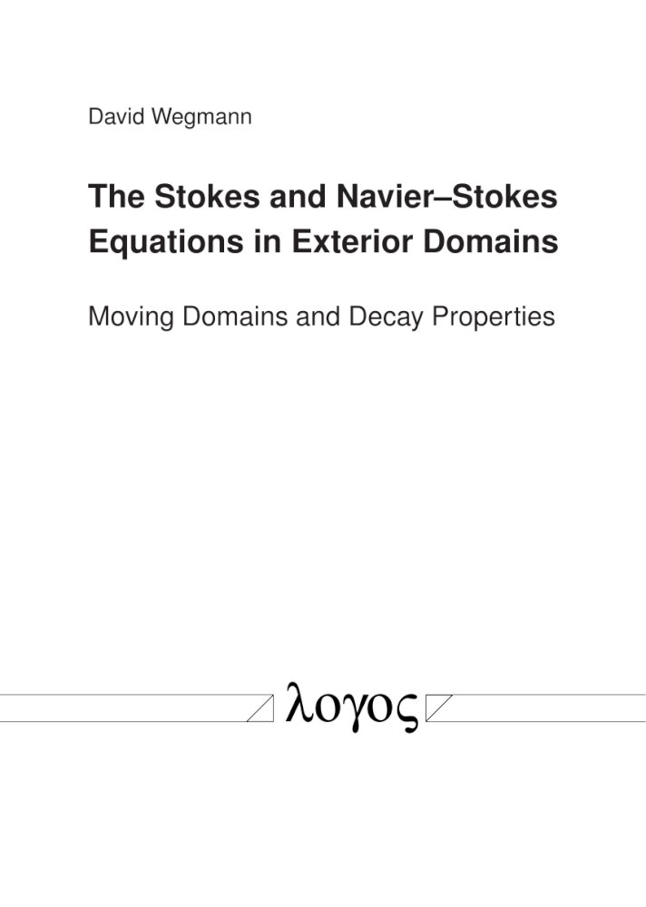 The Stokes and Navier-Stokes Equations in Exterior Domains. Moving Domains and Decay Properties