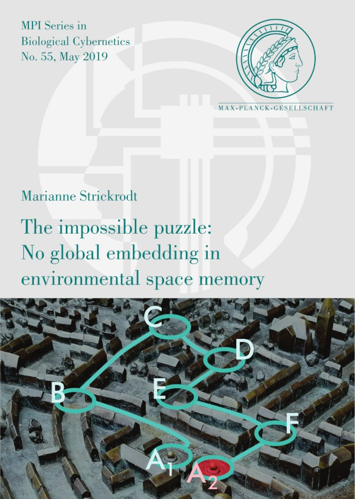 Marianne Strickrodt: The impossible puzzle: No global embedding in environmental space memory, Reihe: MPI Series in Biological Cybernetics, Bd. 55