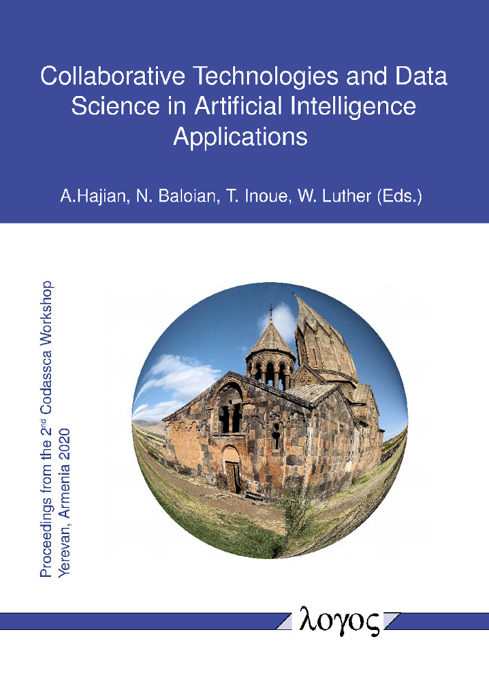 Aram Hajian, Nelson Baloian, Tomoo Inoue, Wolfram Luther (Eds.): Collaborative Technologies and Data Science in Artificial Intelligence Applications